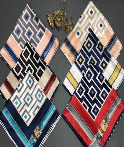 روسری ابریشم رایون سوزنی کد 7240