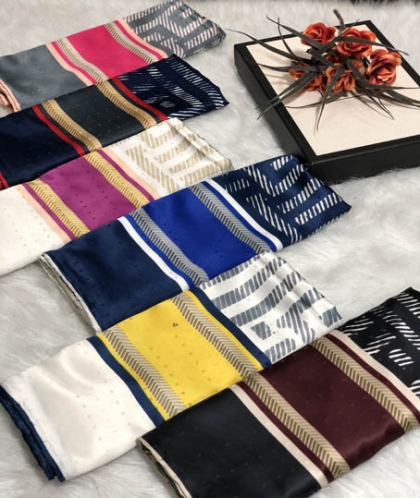 روسری ابریشم رایون سوزنی کد 7370